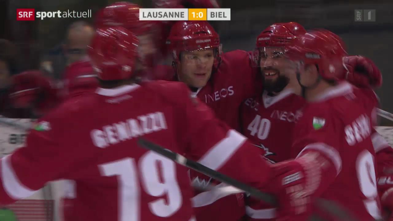 Eishockey: NLA, Lausanne - Biel