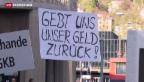 Video «Infina-Geschädigte demonstrieren» abspielen