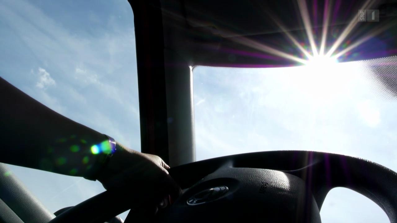 Sonnenbrand durch die Autoscheibe