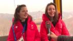 Video «Sarah Höfflin und Mathilde Gremaud: Unbeschwert zu Olympia-Metal» abspielen