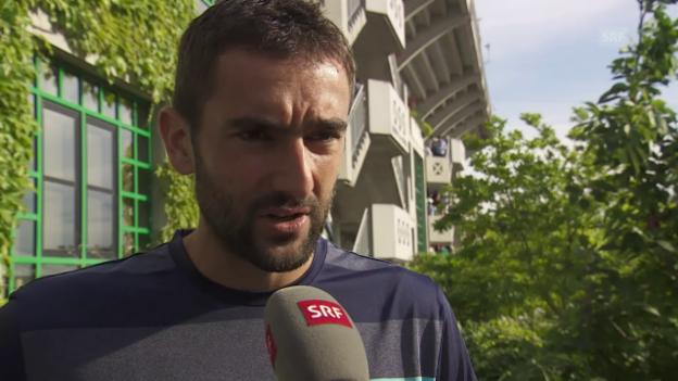 Video «Cilics Ausblick auf den Viertelfinal» abspielen