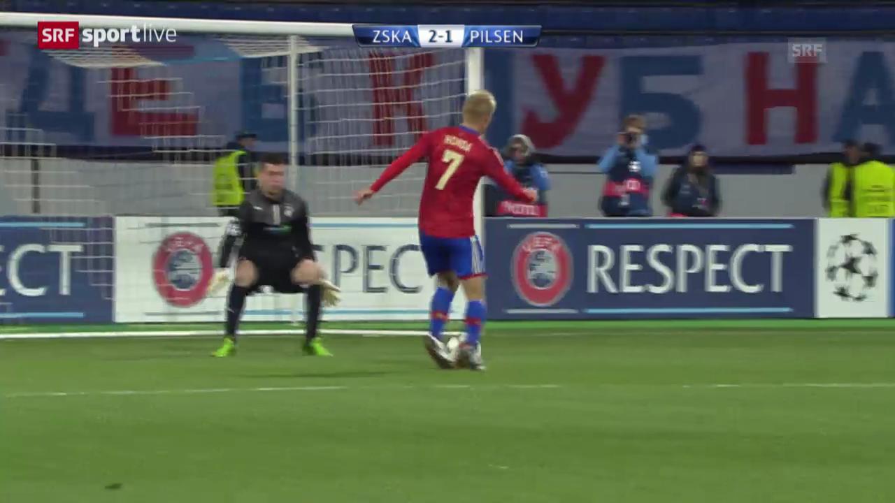 Fussball: ZSKA Moskau - Viktoria Pilsen