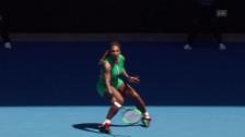Link öffnet eine Lightbox. Video Serena Williams nach Drama ausgeschieden abspielen