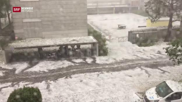 Video «Riesiger Schaden wegen Unwetter» abspielen