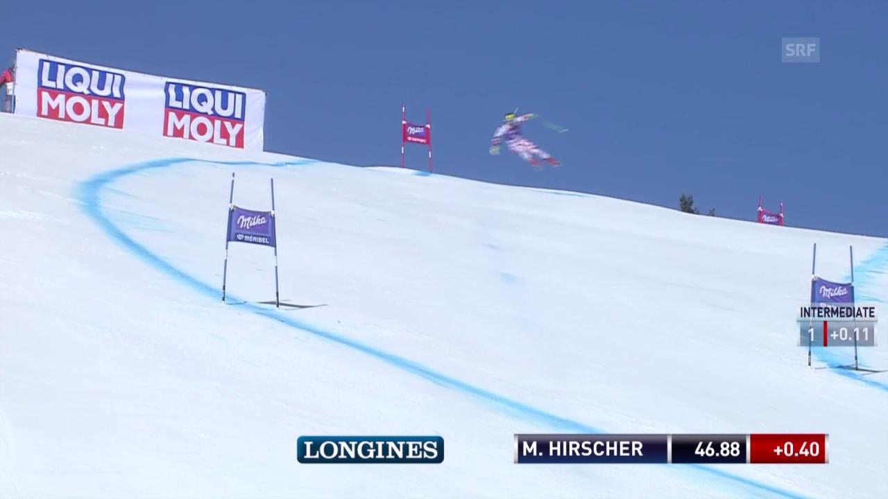 Ski: Super-G Männer in Méribel, Fahrt von Hirscher