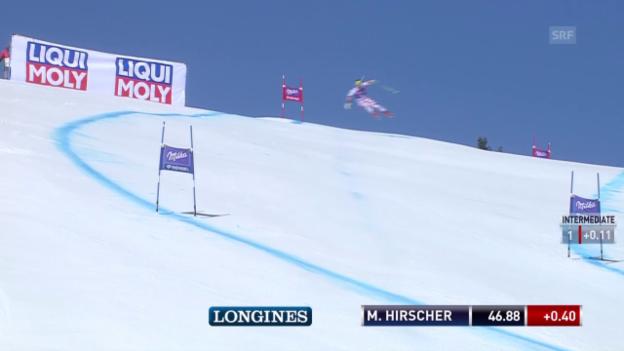 Video «Ski: Super-G Männer in Méribel, Fahrt von Hirscher» abspielen