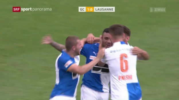Video «GC schlägt Lausanne dank Caio-Doppelpack» abspielen