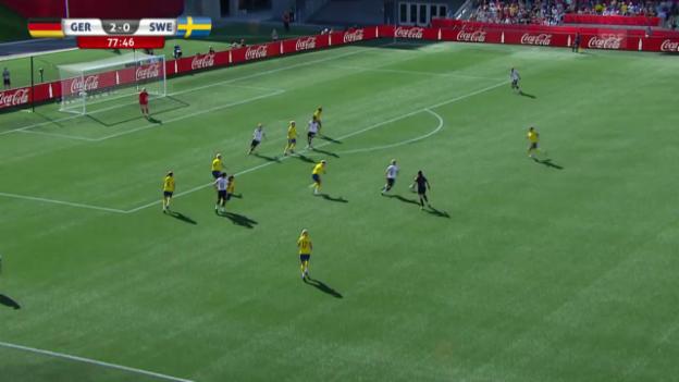 Video «Fussball: Frauen WM in Kanada, Deutschland-Schweden, Tor zum 3:0» abspielen