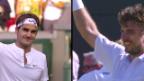 Video «Tennis: Wimbledon 2015, Achtelfinals mit Roger Federer & Stan Wawrinka» abspielen