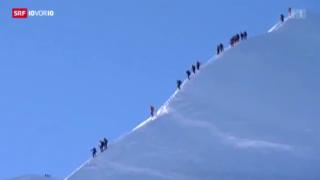 Video «Polizeikontrollen auf dem Mont Blanc» abspielen