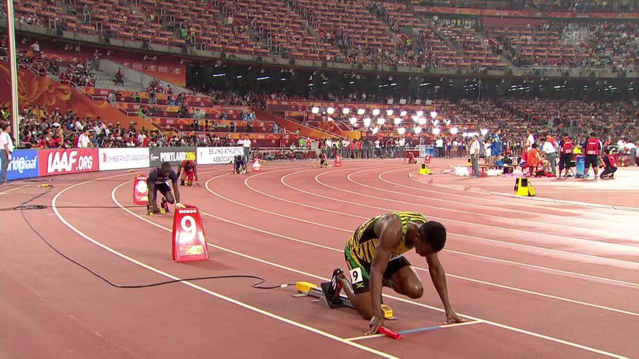 Leichtathletik: WM 2015 in Peking, 4x 400m Staffel der Männer
