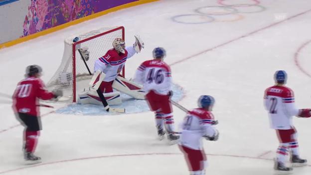 Video «Eishockey: Highlights Schweiz - Tschechien (sotschi direkt, 15.02.2014)» abspielen