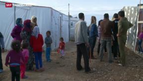 Video «Unzählige Flüchtlinge wegen Gewalt in Syrien  » abspielen