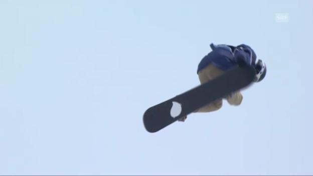 Video «Snowboard: Ursina Hallers 2. Run» abspielen