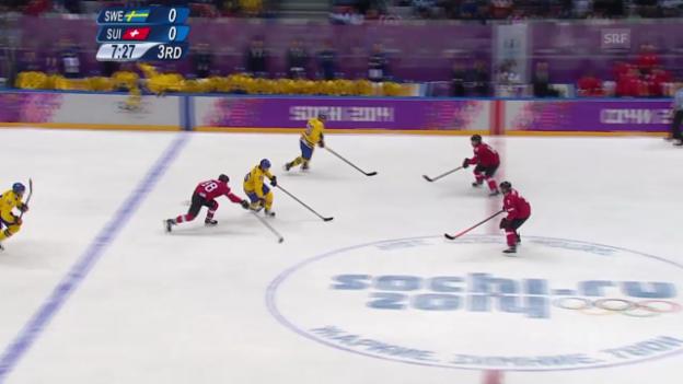 Video «Eishockey: Highlights Schweiz - Schweden (sotschi direkt, 14.02.2014)» abspielen