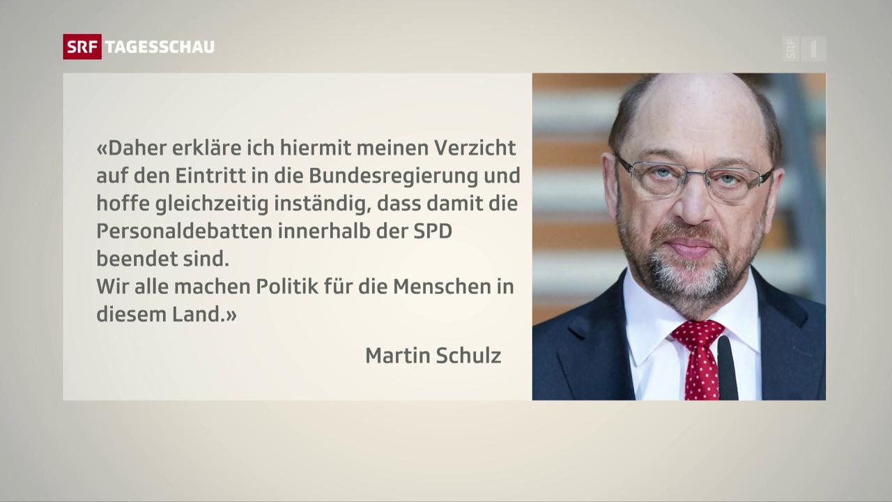 Martin Schulz verzichtet auf Aussenministerium