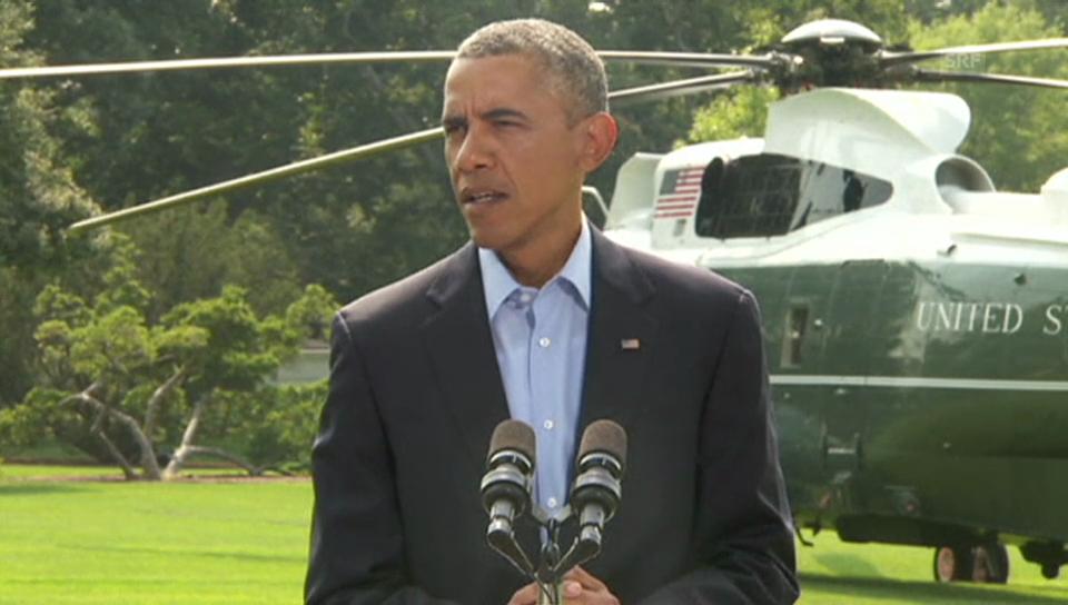 Obama erklärt weiteres Vorgehen der USA im Irak (engl.)