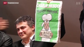 """Video «""""Charlie Hebdo"""" erneut mit Mohammed auf Titelseite» abspielen"""