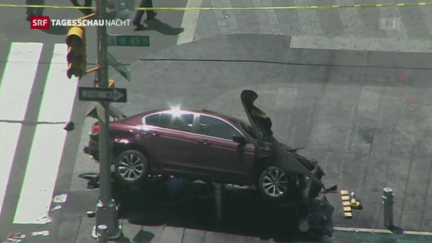 Video «Bilder vom Unfallort am Times Square» abspielen