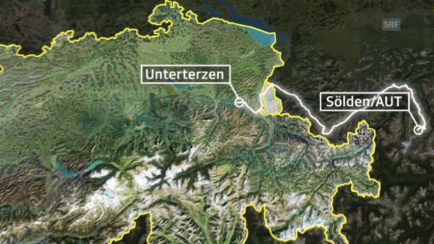 Video «Rad: Tour de Suisse, Streckenprofil der 5. Etappe» abspielen