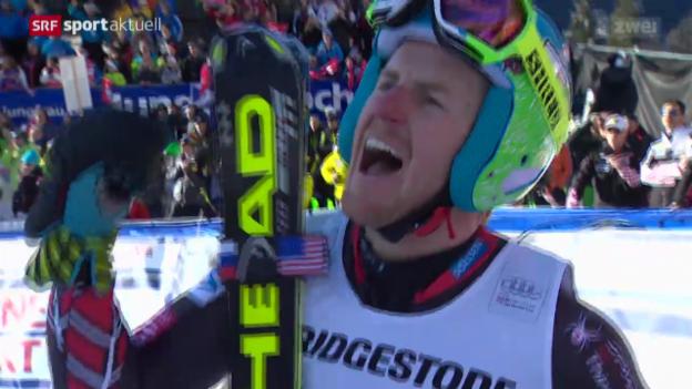 Video «Ski: Weltcup Männer, Superkombination in Wengen» abspielen
