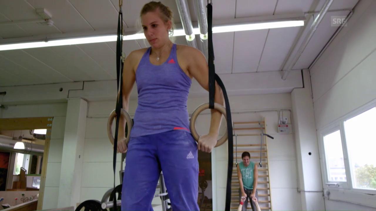 Auch so trainiert eine Kletter-Weltmeisterin
