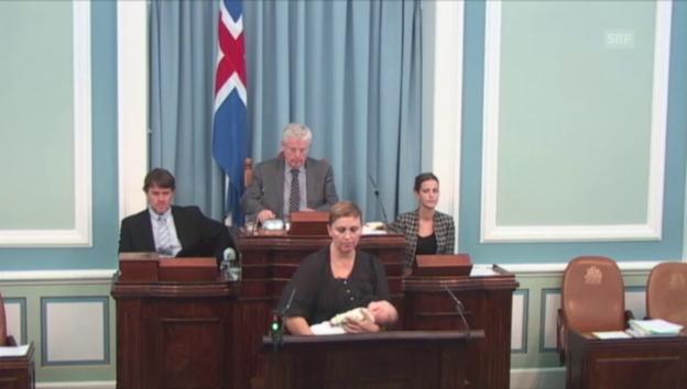 Video «Parlamentarierin stillt Baby» abspielen