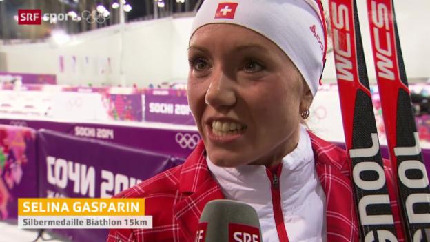 Video «Biathlon: Interview mit Selina Gasparin» abspielen