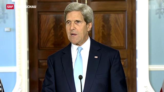 US-Aussenminister Kerry: Beweise für chemische Waffen