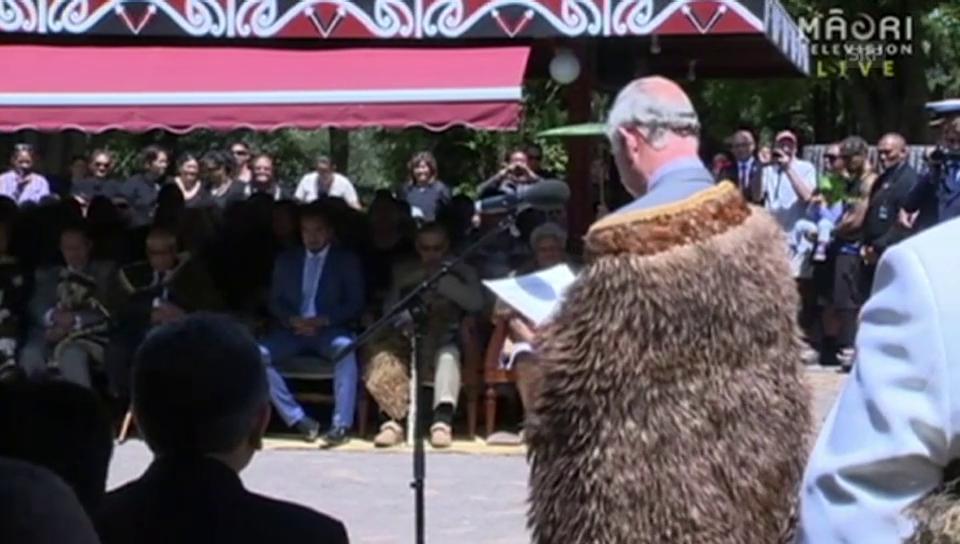 Prinz Charles' Rede auf Maori