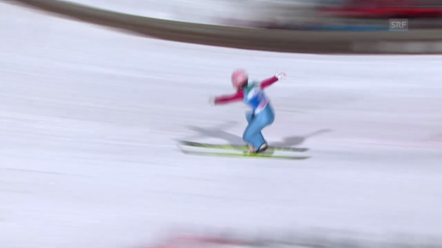 Video «Skispringen: Vierschanzentournee, 4. Springen in Bischofsbofen, Stefan Kraft» abspielen