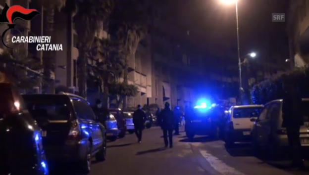 Video «Polizei-Aktion gegen Mafia in Italien (unkomm.)» abspielen