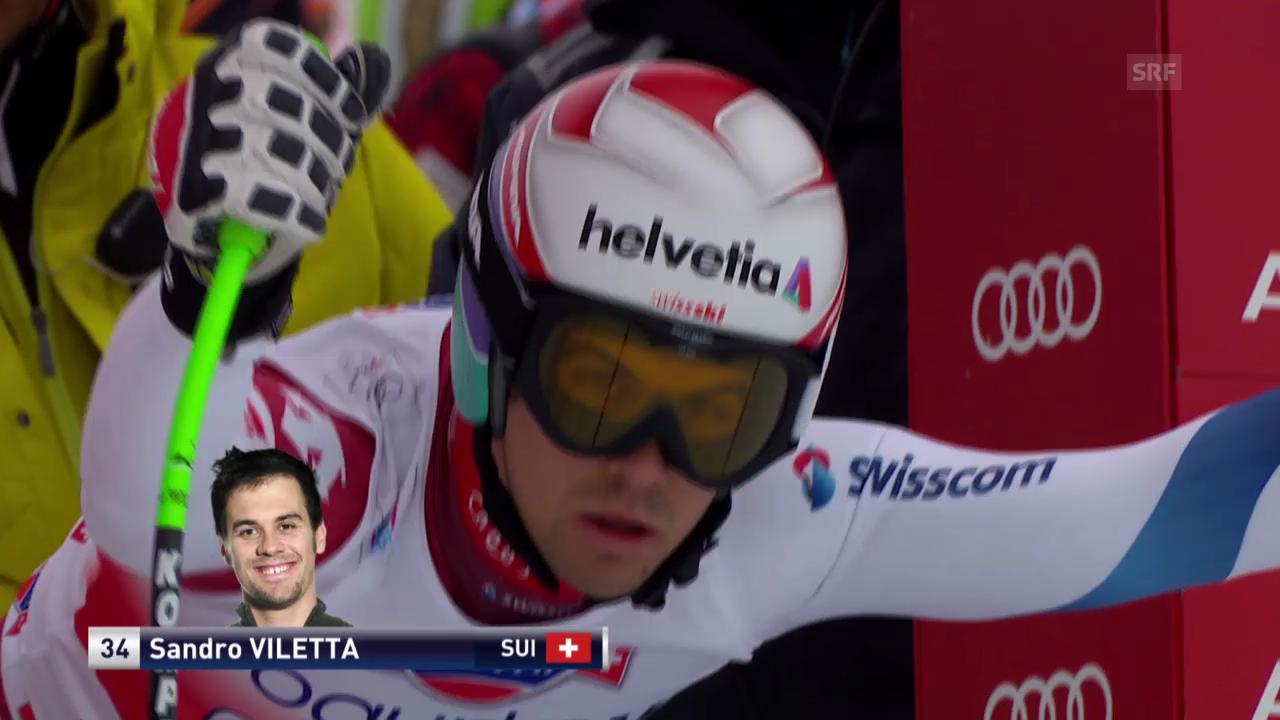 Ski: Abfahrt Wengen 2014, Fahrt von Sandro Viletta