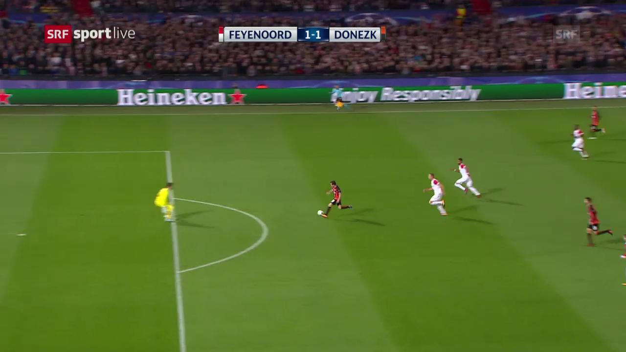Feyenoord unterliegt Schachtar Donezk