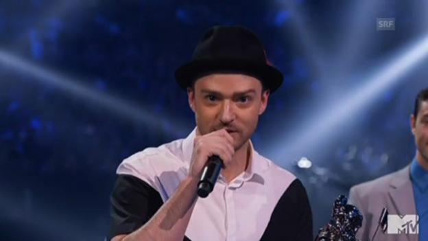 Video «Justin Timberlake grüsst seine Omi» abspielen