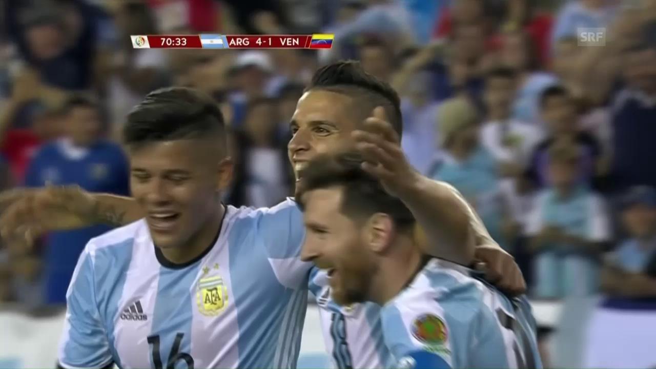 Die Tore bei Argentiniens 4:1-Sieg gegen Venezuela