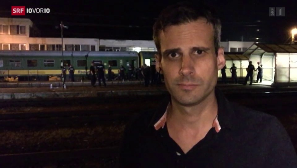 SRF-Sonderkorrespondent Marcel Anderwert aus Bicske