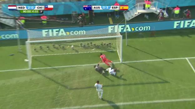 Video «FIFA WM 2014: Das Tor zum 2:0 für die Niederlande» abspielen