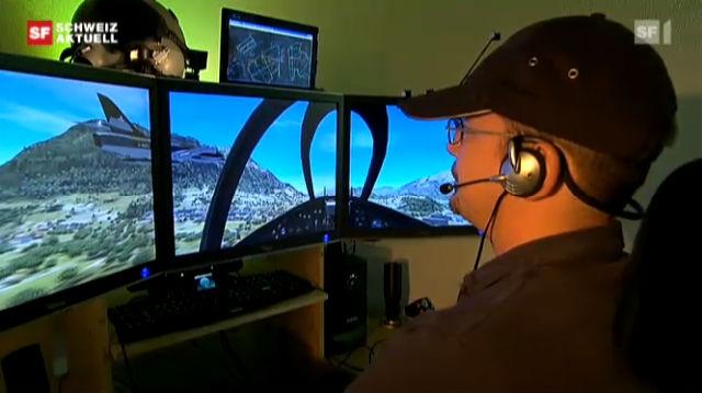 """Pilot ohne Gegenwind: Baselbieter Kommandant befiehlt aus der Stube die """"Virtual Swiss Airforce"""