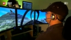 """Video «Pilot ohne Gegenwind: Baselbieter Kommandant befiehlt aus der Stube die """"Virtual Swiss Airforce» abspielen"""