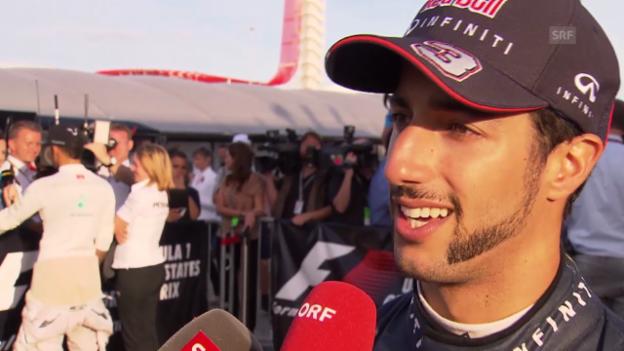 Video «Daniel Ricciardo zum GP von Austin (englisch)» abspielen