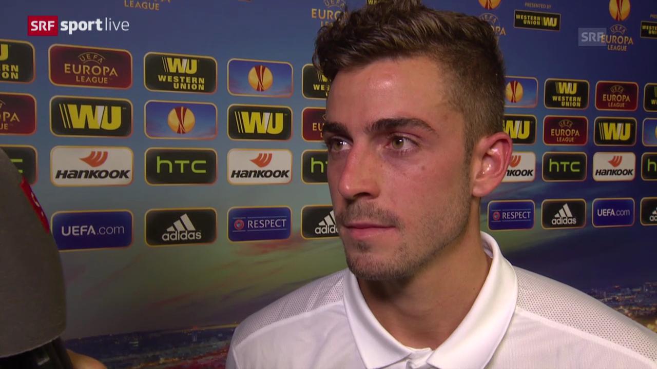Fussball: Europa League, Interview Marco Schönbächler