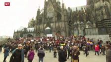 Video «Demonstrationen in Köln» abspielen