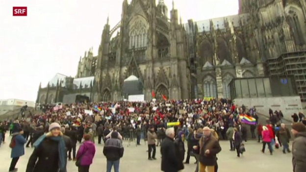 Video «Demonstrationen in Köln» abspielen