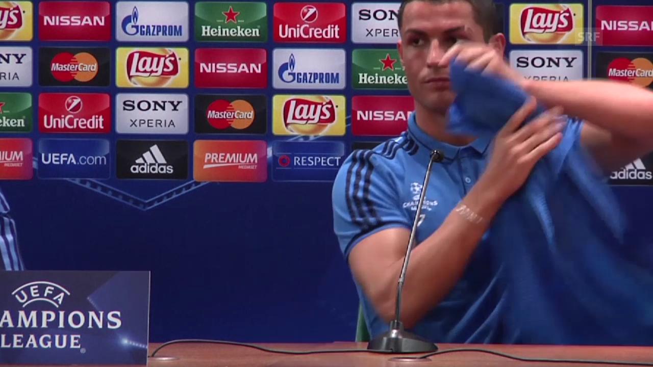 Ronaldo reisst der Geduldsfaden (Quelle: SNTV)