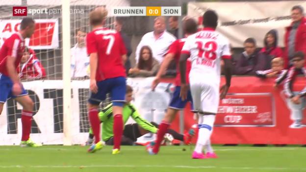 Video «Fussball: Schweizer Cup, Brunnen - Sion» abspielen