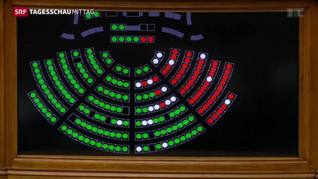 Video «Nationalrat sagt Ja zu Rückzug des EU-Beitrittsgesuches» abspielen