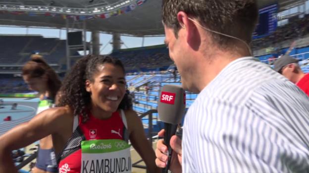 Video «Ausgepumpte Kambundji im Interview» abspielen