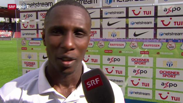 Video «Fussball: Super League, Interview mit Gilles Yapi» abspielen