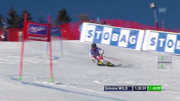 Video «Der 2. Lauf von Simone Wild» abspielen